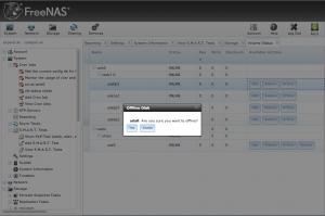 FreeNAS offline disk